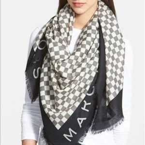 MARC BY MARC JACOBS Mercerized Wool check Scarf